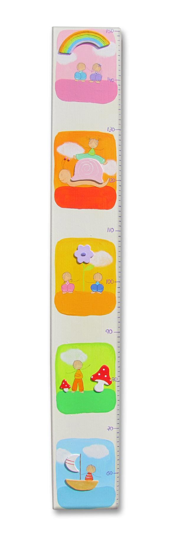 מד גובה - ילדים וילדות בחלונות צבעוניים 1