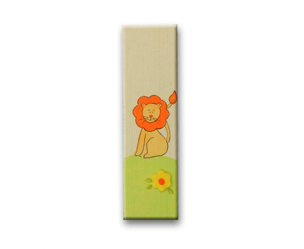 ידיות מעץ לחדר ילדים. דגם: אריה מלך החיות 1