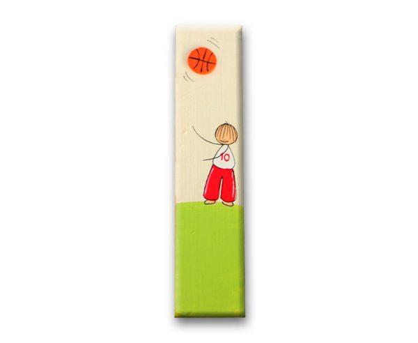 ידית מלבנית מעץ בעיצוב ילד עם כדור 1