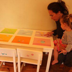 שולחן וכסאות מעוצבים לילדים - 6 חלונות צבעוניים 6