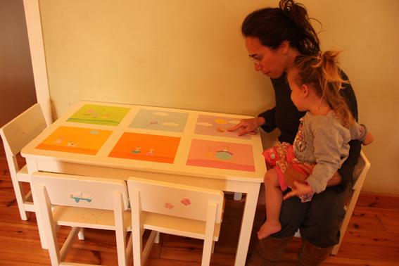 שולחן וכסאות מעוצבים לילדים - 6 חלונות צבעוניים 2