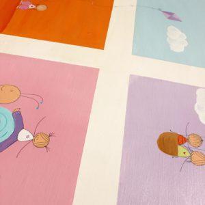 שולחן וכסאות מעוצבים לילדים - 6 חלונות צבעוניים 8