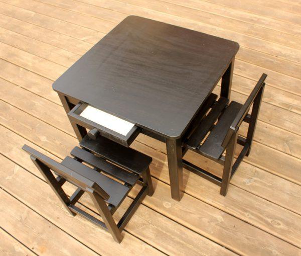 שולחן וכסאות לילדים - צבע שחור 1