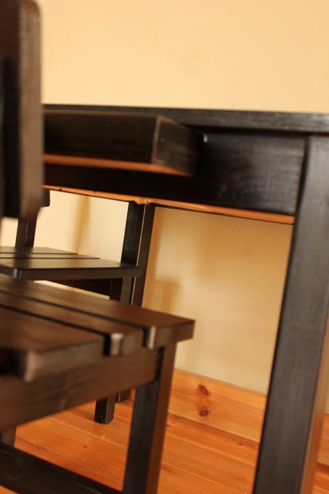 שולחן וכסאות לילדים - צבע שחור 2