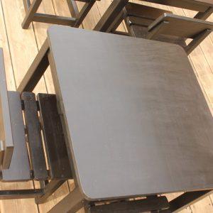 שולחן וכסאות לילדים - צבע שחור 6