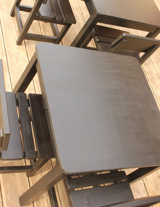 שולחן וכסאות לילדים - צבע שחור 3