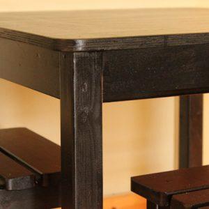 שולחן וכסאות לילדים - צבע שחור 7
