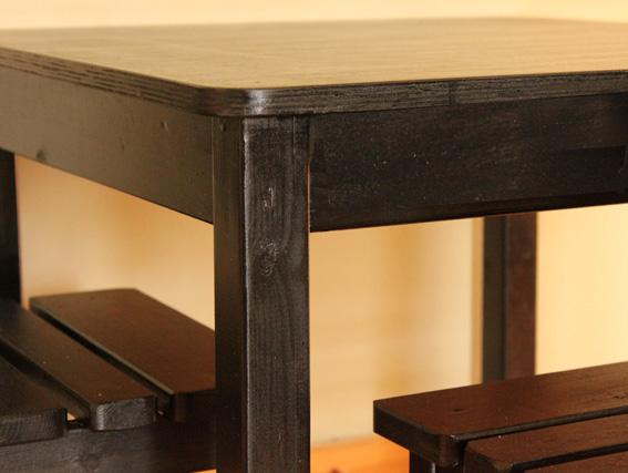 שולחן וכסאות לילדים - צבע שחור 4