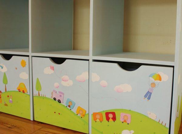 כוורת למשחקים בחדר ילדים - דגם: תומר 4