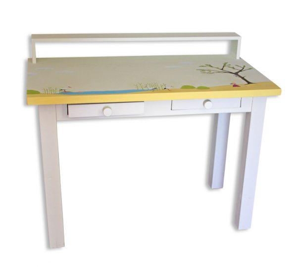 שולחן כתיבה מעוצב לילדים בתוספת מדף אחורי 1