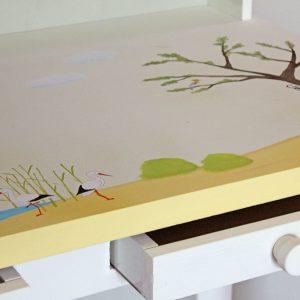 שולחן כתיבה מעוצב לילדים בתוספת מדף אחורי 6
