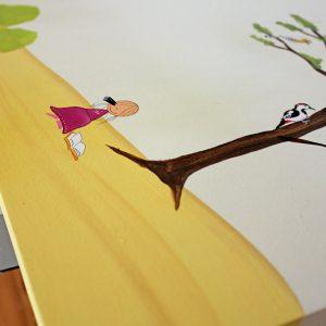 שולחן כתיבה מעוצב לילדים בתוספת מדף אחורי 7