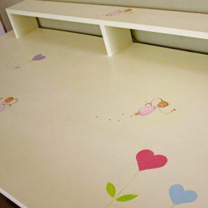 שולחן כתיבה מעוצב לילדות + יחידת מגירות מעוצבת 6
