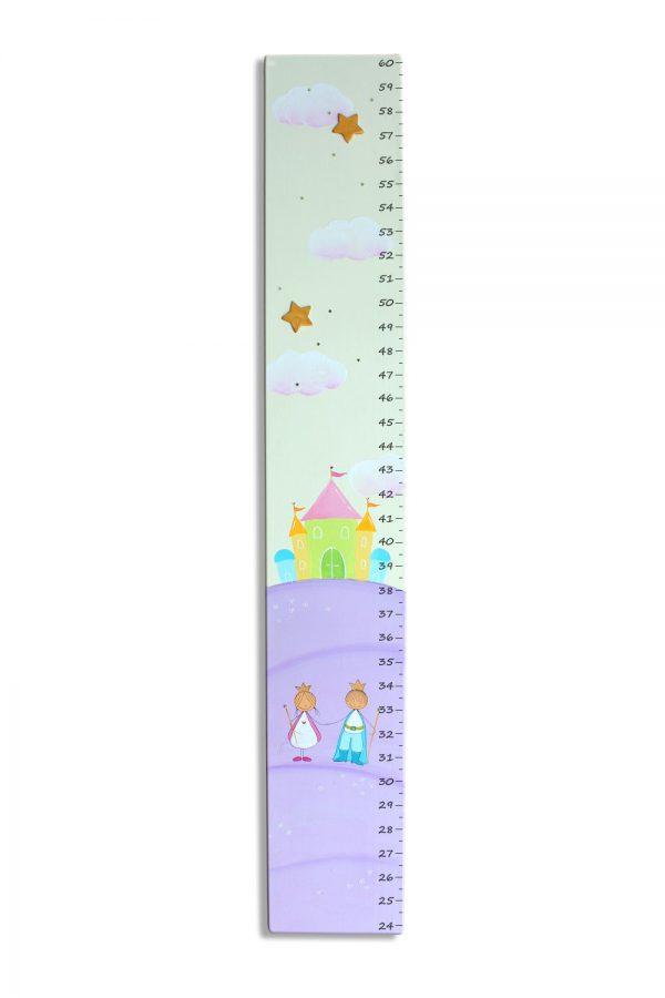 מד גובה מעוצב- נסיך ונסיכה בגווני סגול 1