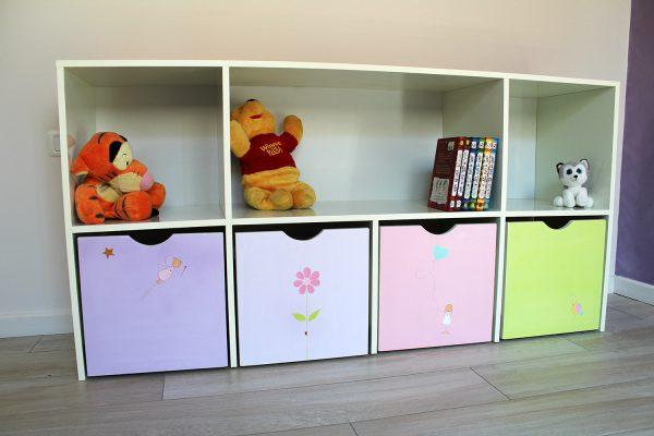 כוורת אחסון בחדר ילדים - דגם: יהלי 1