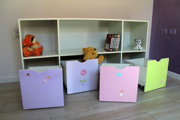 כוורת אחסון בחדר ילדים - דגם: יהלי 2