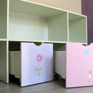 כוורת אחסון בחדר ילדים - דגם: יהלי 5