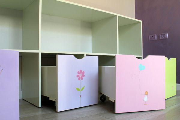 כוורת אחסון בחדר ילדים - דגם: יהלי 3