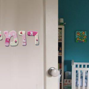 אותיות מעוצבות לדלת חדר ילדות. הלו קיטי. 7