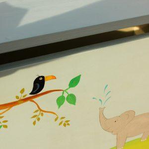 ארגז לאחסון משחקים בחדר ילדים - חיות בספארי