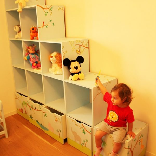 חדר ילדים בעיצוב חיות ג'ונגל