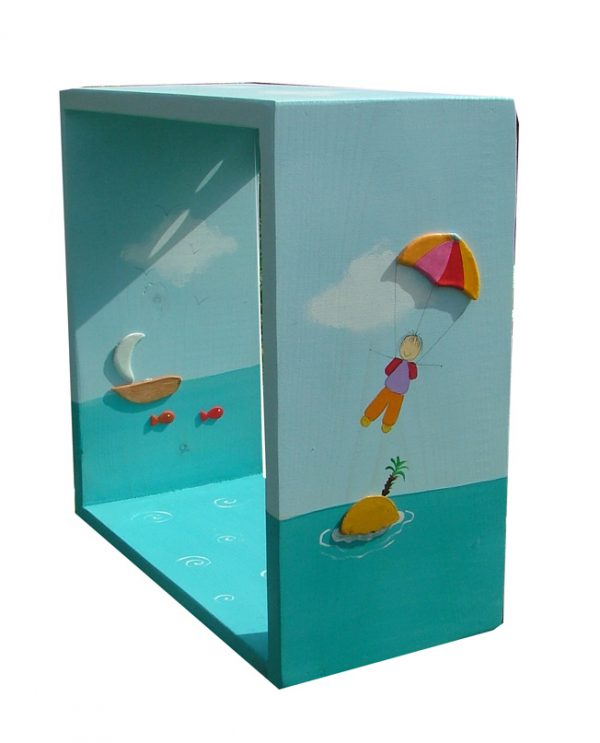 כוורת לחדר ילדים - ילד במצנח רחיפה בים