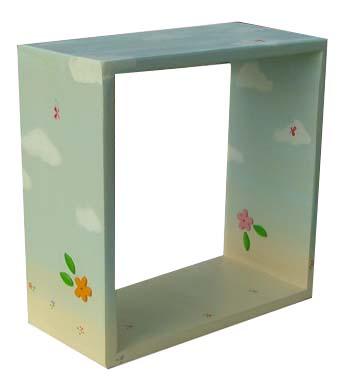 כוורת ריבוע לחדר ילדים - פרחים ועננים