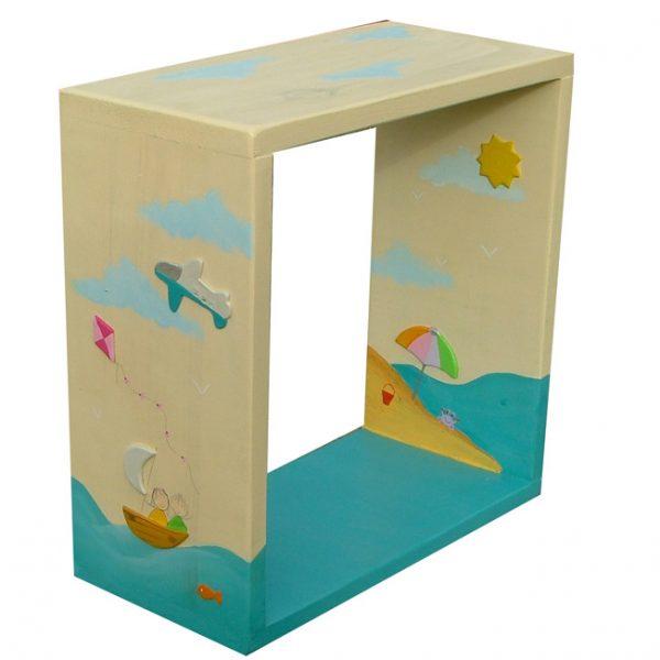 מדף אחסון לחדר ילדים סירות מפרש בים