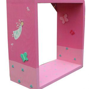 מדף לחדר ילדות- פיה עם פרפרים