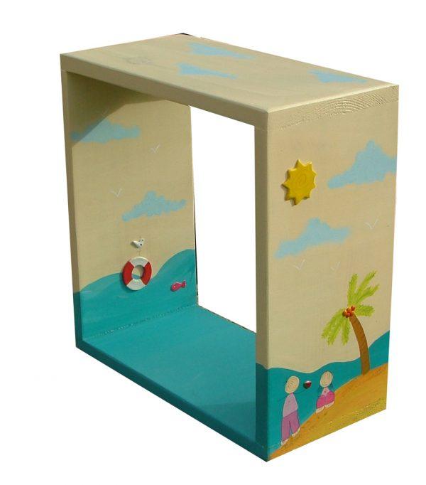 מדף לחדר ילדים אי בים