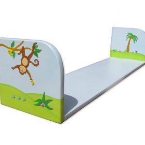 מדף מעץ לחדר ילדים – קוף על העץ