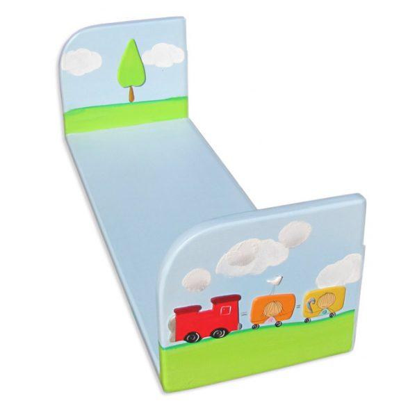 מדף אחסון לחדר ילדים – רכבת צבעונית