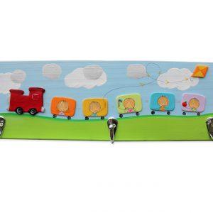 מתלה לחדר תינוקות – רכבת צבעונית