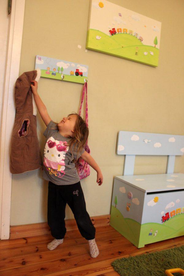 ספסל לחדר ילדים – רכבת מטיילת