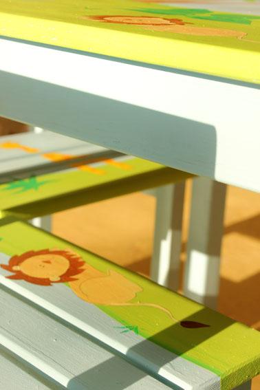 שולחן וכסאות לחדר ילדים - חיות הג'ונגל בספארי