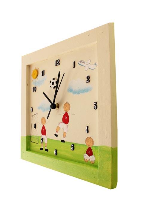 שעון לחדר ילדים אלופי הכדורגל