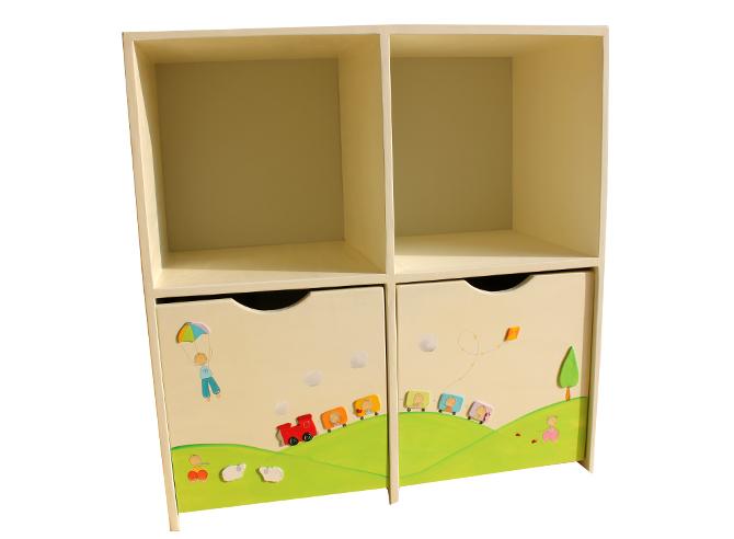 כוורת מעץ לחדר ילדים - דגם גילי
