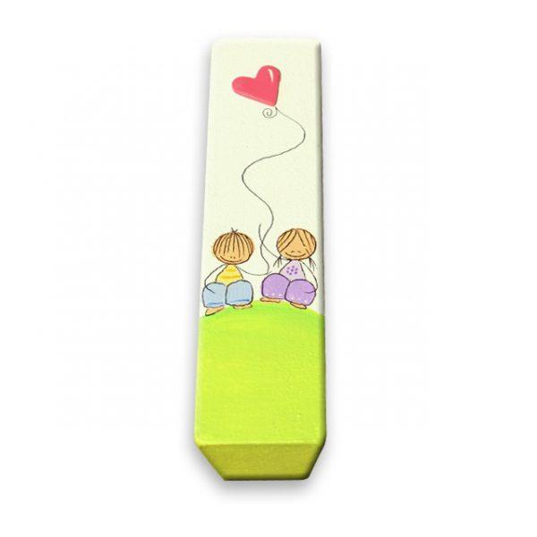ידית לחדר ילדים - ילדים עם בלון לב