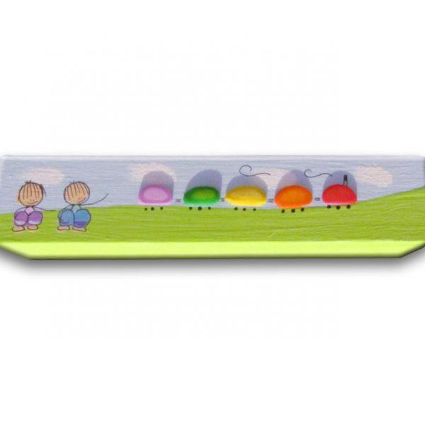 ידית לחדר ילדים - ילדים מתבוננים ברכבת