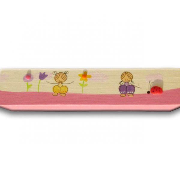 ידית לחדר ילדים - ילדות עם פרחים
