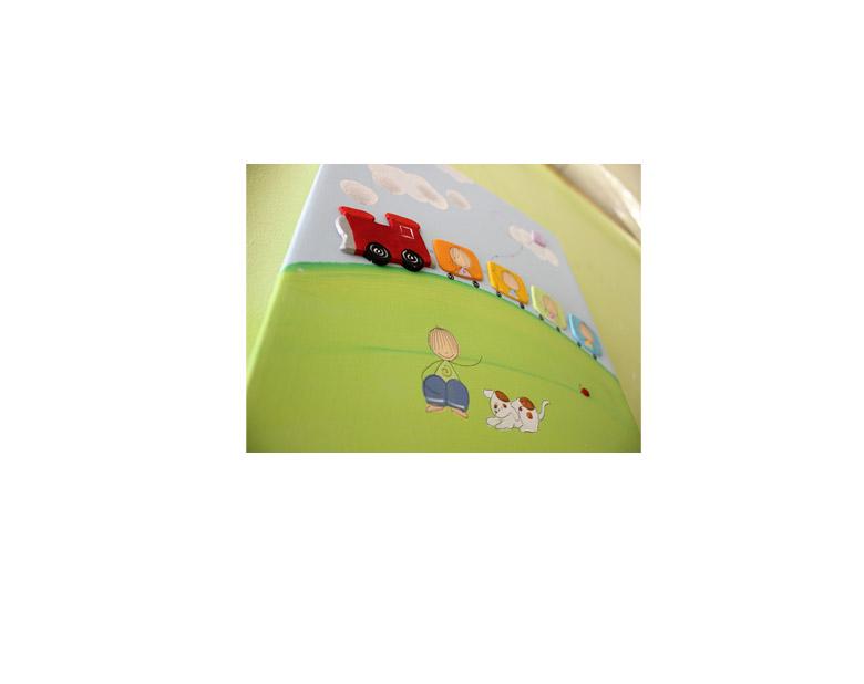תמונה לחדר ילדים – רכבת צבעונית