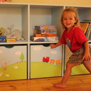 כוורת לצעצועים בחדר ילדים - דגם יובל