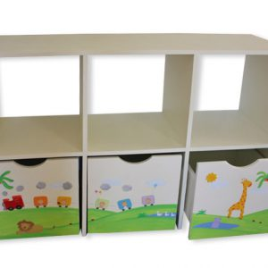 כוורת אחסון לחדר ילדים - דגם: עומר