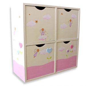 כוורת לתכשיטים וכלי איפור בחדר ילדות - דגם: תמה