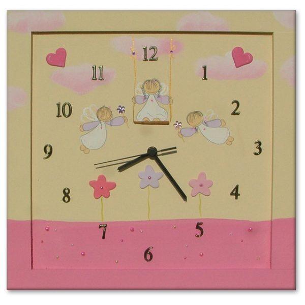 שעון קיר לחדר ילדות - פיות מעופפות