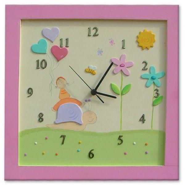 שעון מעוצב לחדר ילדות - ילדה מקסימה