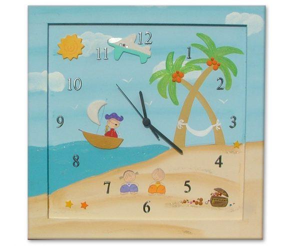 שעון לחדר ילדים - סירות מפרש בים