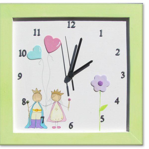 שעון מעוצב לילדים - נסיכה ונסיך