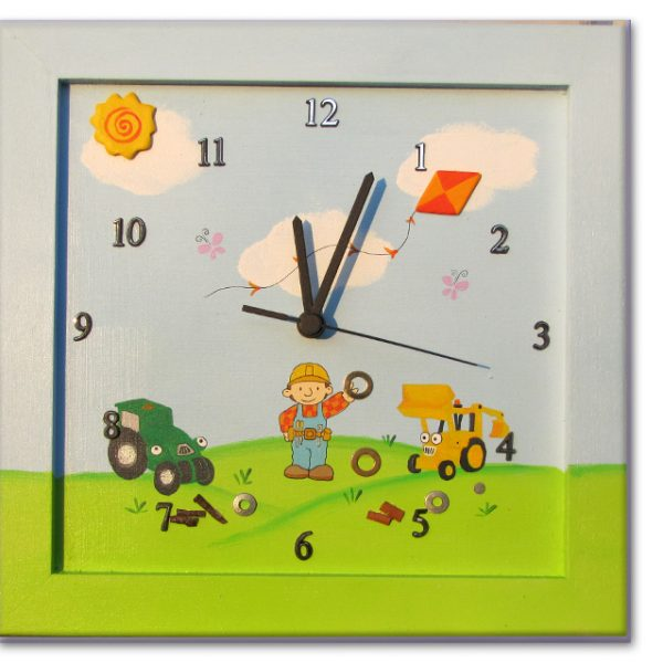 שעון מעוצב לחדר ילדים - בוב הבנאי