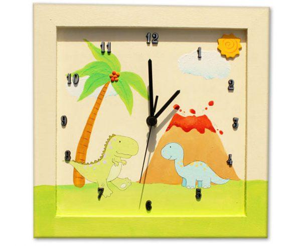 שעון לחדר ילדים - דינוזאורים קדומים
